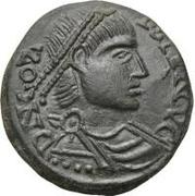 Æ bronze Au nom de Constans I, 337-350 – avers