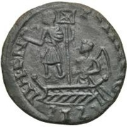 Æ bronze Au nom de Constans I, 337-350 – revers