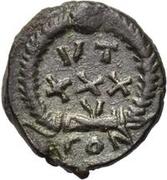 Æ bronze Au nom de Theodosius II, 402-450 – revers