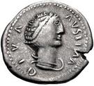 1 Denarius - Diva Faustina Senior – avers