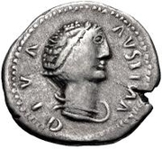1 denarius Imitant Faustine l'Ancienne, 138-140 – avers