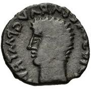 Æ inconnu Imitant Tibère, 14-37 – avers