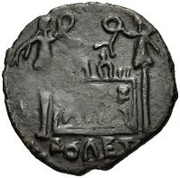 Æ inconnu Imitant Tibère, 14-37 – revers