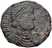 Æ bronze Au nom de Valens, 364-378 – avers