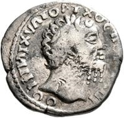 1 denarius Imitant Marc Aurèle, 161-180, ou Septime Sévère, 193-211 – avers