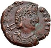 Æ bronze Au nom de Valentinian II, 375-392 – avers