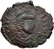 Æ bronze Au nom de Theodosius I, 379-395 – avers
