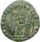 Æ bronze Au nom de Constantine I, 306-337 (buste face à gauche; avec podium) -  avers