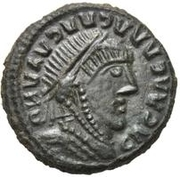 Æ bronze Au nom de Constantine I, 306-337 (inscription esquissée) – avers