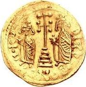 1 solidus Au nom de Constantine IV, 668-685 (cinq étapes) -  avers