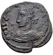 Æ bronze Au nom de Constantine II, 337-340 ou Constantius II, 337-361 (buste face à gauche) – avers