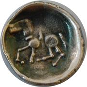 Drachm of eastern celts, Dacia,Sattelkopfpferd variant – revers