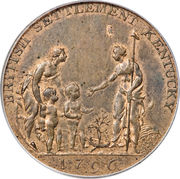 ½ Penny (Myddelton token) – avers