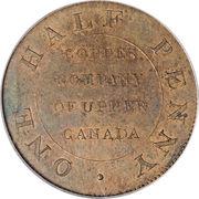 ½ Penny (Myddelton token) – revers