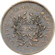 """1 cent """"Washington Celebration Unity Cent"""" (tête laurée) – revers"""