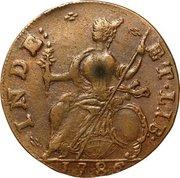 "Connecticut Copper ""Draped Bust"" – revers"
