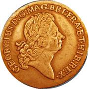 2 pence George I (William Wood; Rosa Americana) – avers