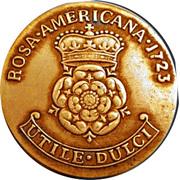 2 pence George I (William Wood; Rosa Americana) – revers