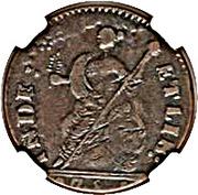 """Connecticut Copper """"Bust Facing Left"""" – revers"""