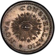 1000 unit Mark, Nova Constellatio 1783 pattern – revers