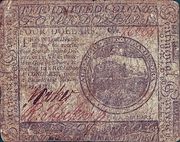 4 Dollars - Continental Currency - United Colonies – avers