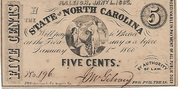 Five Cents - North Carolina – avers