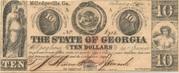 10 Dollars (Milledgeville, Georgia) – avers