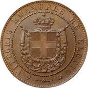 5 centesimi - Vittorio Emanuele II – avers