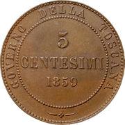 5 centesimi - Vittorio Emanuele II – revers