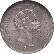 50 centesimi - Vittorio Emanuele II – avers