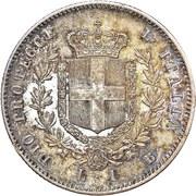 1 lira - Vittorio Emanuele II – revers