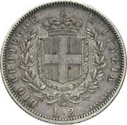 2 lire - Vittorio Emanuele II – revers