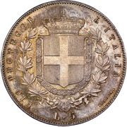 5 lire - Vittorio Emanuele II – revers