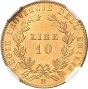 10 lire - Vittorio Emanuele II – revers