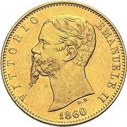 20 lire - Vittorio Emanuele II – avers