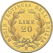 20 lire - Vittorio Emanuele II – revers