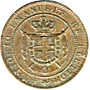 1 centesimo - Vittorio Emanuele I – avers