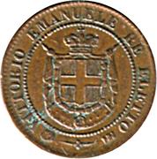 2 centesimi - Vittorio Emanuele II – avers