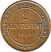 2 centesimi - Vittorio Emanuele II – revers