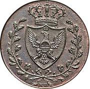 3 centesimi - Vittorio Emanuele II – avers