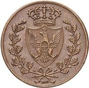 5 centesimi - Carlo Felix – revers