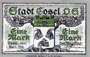 1 Mark (Cosel) – avers