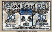 50 Pfennig (Cosel) – avers
