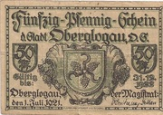50 Pfennig (Oberglogau) – avers