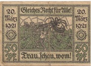 50 Pfennig (Oberglogau) – revers