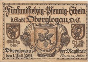 75 Pfennig (Oberglogau) – avers