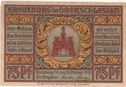 75 Pfennig (Kreuzburg) – avers
