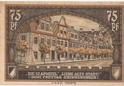 75 Pfennig (Kreuzburg) – revers