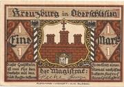 1 Mark (Kreuzburg) – avers