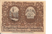 50 Pfennig (Leobschütz) – avers